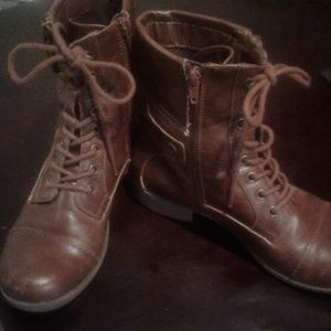 G by Guess Brown Combat Boots